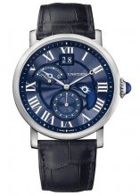 Replik Rotonde de Cartier Second Time Zone Day/Night Blue Heaven
